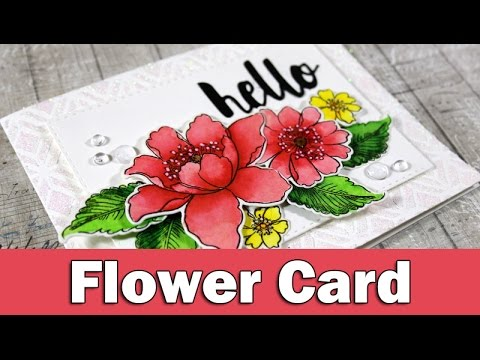 Flower Card | ALTENEW BLOG HOP - GIVEAWAY