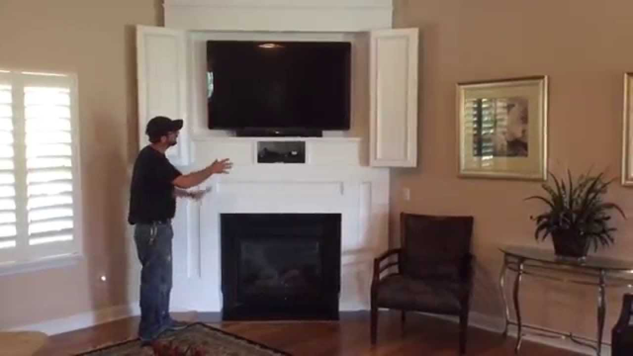 We built this entertainment center from scratch in the house. It is not a kit. We built it out of real paint grade wood and MDF panels. We updated the techno...