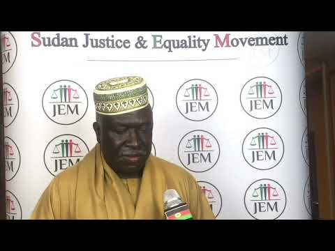 SRF Congress in Paris - Dr. Eltahir Elfakki - Justice and Equality Movement Sudan
