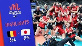 BELGIUM Vs. JAPAN -  Highlights Women | Week 1 | Volleyball Nations League 2019
