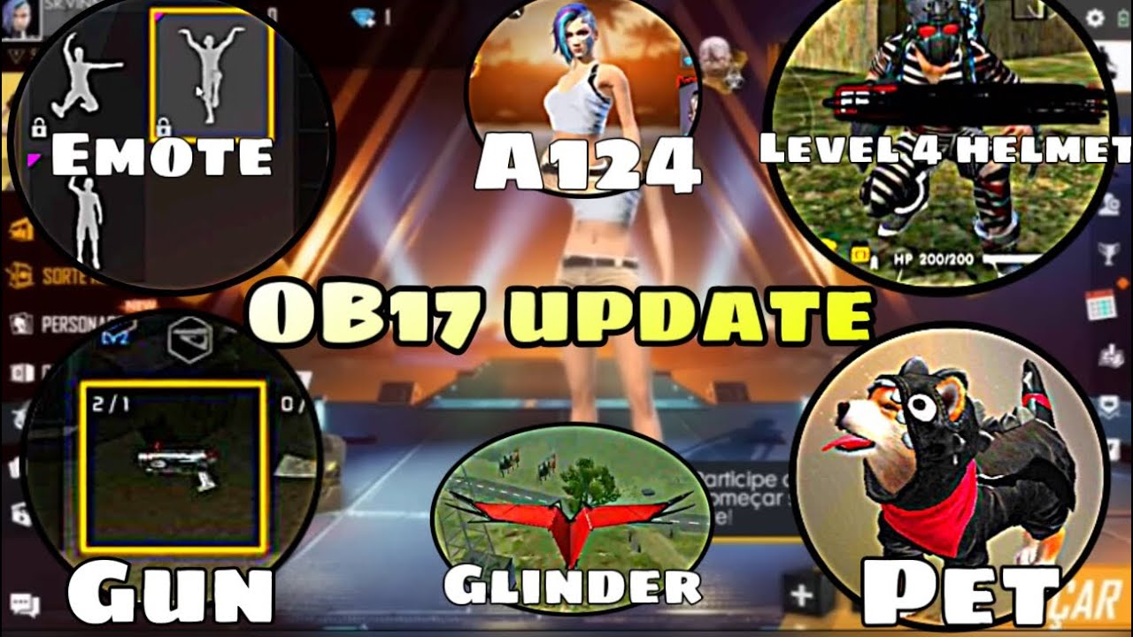 New Update Ob17 Free Fire New Pet Level 4 Helmet New Character A124 New Lobby