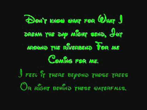 Just Around The Riverbend - Pocahontas Lyrics