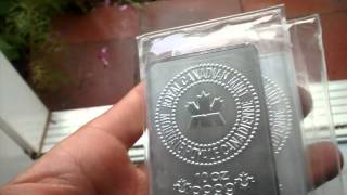 NEW Royal Canadian Mint 10 oz silver bars - My first video