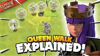 Queen Walk Explained - Basic to Advanced Tutorial (Clash of Clans)
