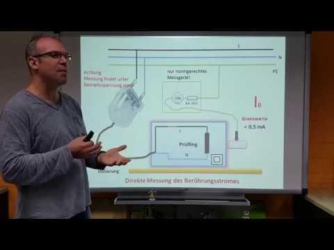 Prüfen elektrischer Geräte: Berührungsstrom(7), Messung nach DIN VDE 0701-0702