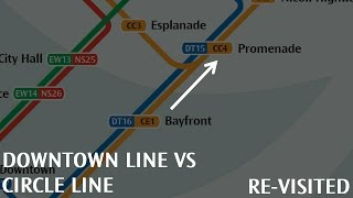 Downtown Line VS Circle Line Revisited: Bayfront → Promenade