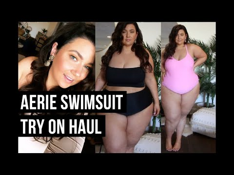 PLUS SIZE FASHION TRY ON HAUL | Gorgeous AERIE Swimsuits! | Sometimes Glam
