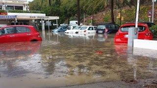 El temporal de viento y lluvia deja numerosos incidentes a su paso por Mallorca