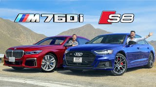 2020 Audi S8 vs BMW M760i // S-Class Killers
