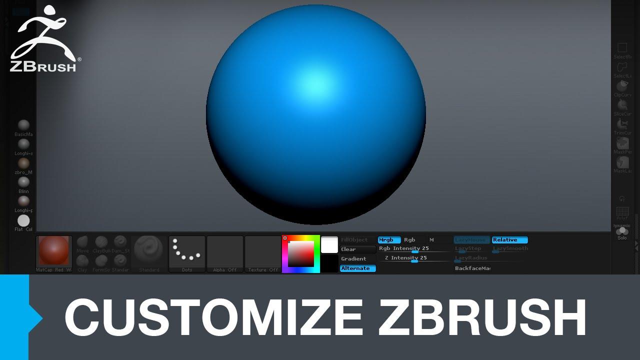 Customizing Zbrush UI and my interface - jhill xyz