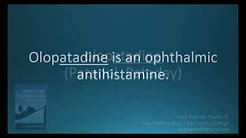 How to pronounce olopatadine (Pataday) (Memorizing Pharmacology Flashcard)