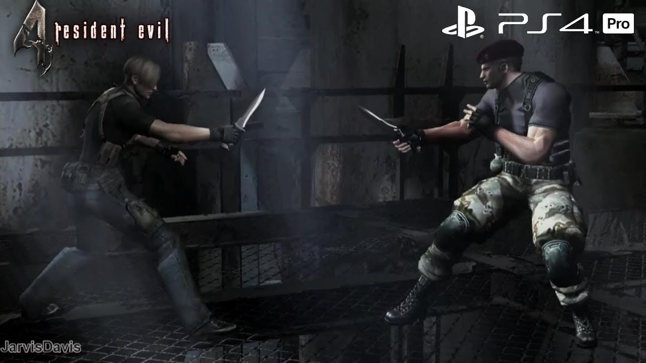 Resident Evil 4 Ps4 Pro Leon Vs Krauser Knife Fight 1080p 60fps