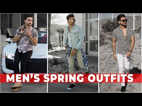 3 EASY SPRING OUTFITS FOR MEN 2018 | Men's Festival Fashion & Style Lookbook | Alex Costa