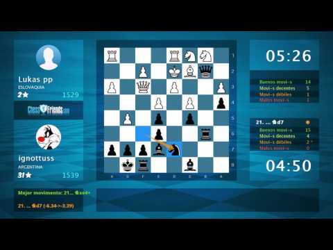 Chess Game Analysis: Lukas pp - ignottuss : 0-1 (By ChessFriends.com)