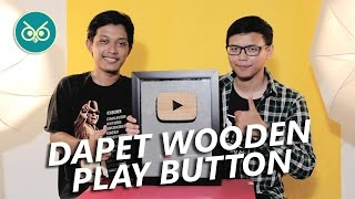 Dapet Wooden Play Button Dari Youtube Untuk 100 Subscriber! | Unboxing & Review #INSOMREVIEW
