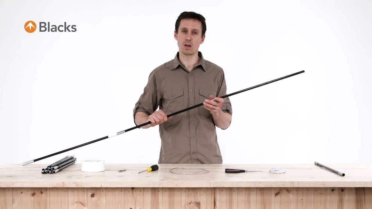 sc 1 st  YouTube & How To Repair Tent Pole Elastic - YouTube