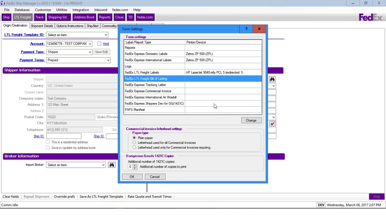 Fedex Freight Quote Set Up Your Printer With Fedex Ship Manager Software  Youtube
