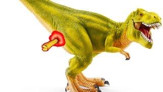 Динозавры для детей. У Тираннозавра КОЛЮЧКА под ХВОСТОМ! Помогите ДРУЗЬЯ! Жук. Приз в каждом видео!