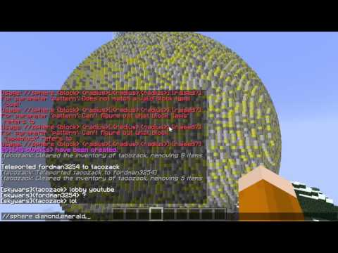 Minecraft: Sphere Command Tutorial