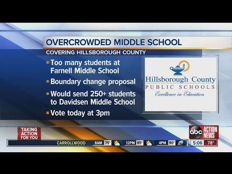 Boundary change would send 250 students from Farnell Middle School to Davidsen Middle School