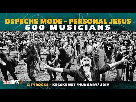 Personal Jesus  (Depeche Mode) - 500 Hungarian Musicians - Cityrocks Hungary - Kecskemét 2019