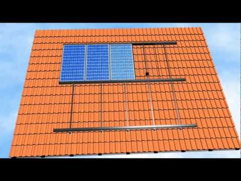 PV Mounting System GermanClick for Inclined Tile Roof