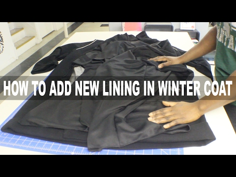 DIY ALTERATIONS  HOW TO ADD LINING TO A WINTER COAT  BEAUTYCUTRIGHT