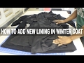 DIY ALTERATIONS| HOW TO ADD LINING TO A WINTER COAT| BEAUTYCUTRIGHT
