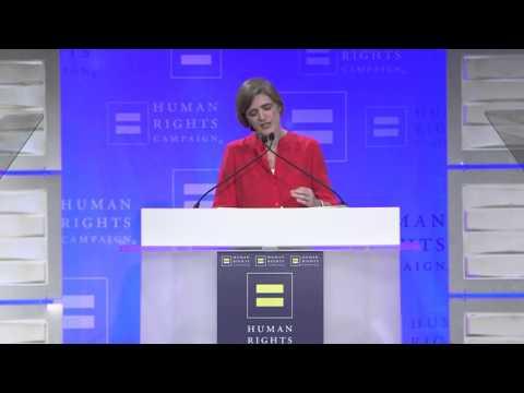 U.S. Ambassador to the UN Samantha Power Speaks to HRC Volunteers