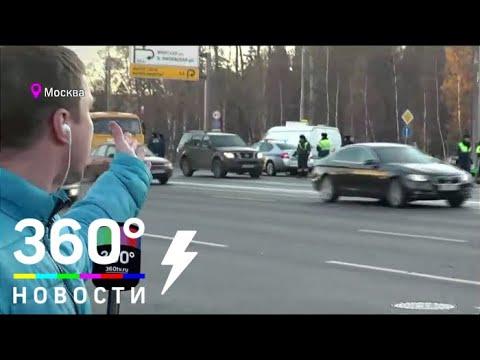 Maybach попал в аварию с участием такси на Кутузовском проспекте