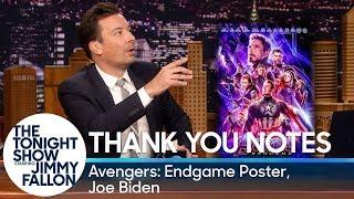 Thank You Notes: Joe Biden, Avengers: Endgame Poster