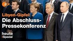 Libyen-Konferenz in Berlin: Das sind die Ergebnisse
