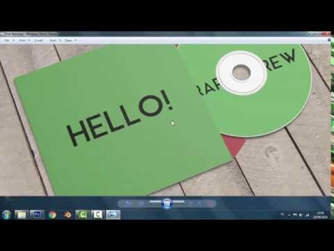 Free Download Disk or Stationery Mockup
