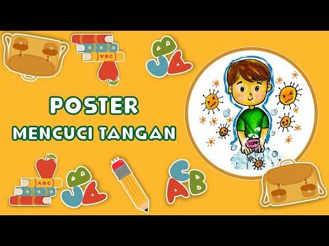 Poster Pencegahan Covid 19 Yang Mudah Gambar Anak Sd ...