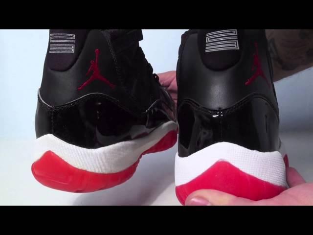 the latest abc38 59b7c Comparison  1995 Original vs. 2012 Retro Air Jordan 11 (XI) Bred (Black Red)  Download video - get video youtube
