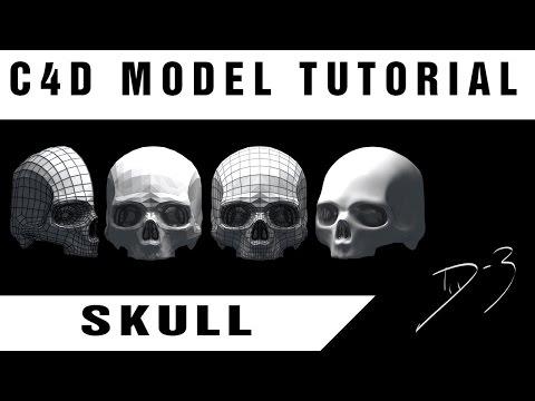 Tutorial : Cinema 4D / SKULL model ; D-3