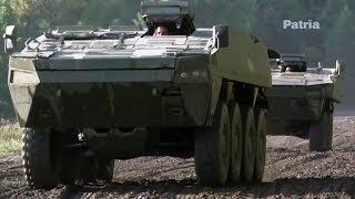Teknari Magazine - Patria Armoured Modular Vehicle (AMV) Tested By Finnish Rally Race Driver [480p]