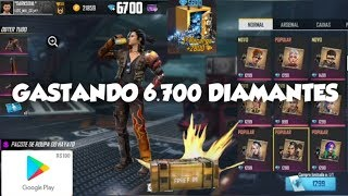 GASTANDO 2 GIFT CARD DE $100 NO FREE FIRE EM 6.700 DIAMANTES