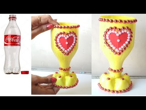 Plastic bottle Flower Vase l Home decor ideas l Waste material craft