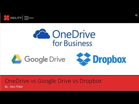 Enterprise Content Management (ECM): OneDrive for Business vs Google Drive vs Dropbox