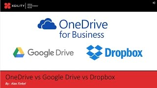Enterprise Content Management (ECM): OneDrive for Business vs Google Drive vs Dropbox