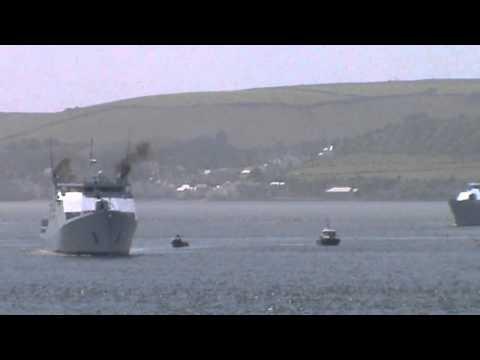 HNLMS Friesland P842 & HNLMS Zeeland P841 in Plymouth Sound 04.07.12