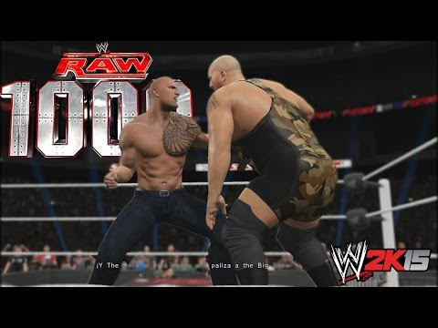 WWE 2K15 Gameplay PS4 - Showcase Episodio 1000 de la RAW  Sacan chispas!