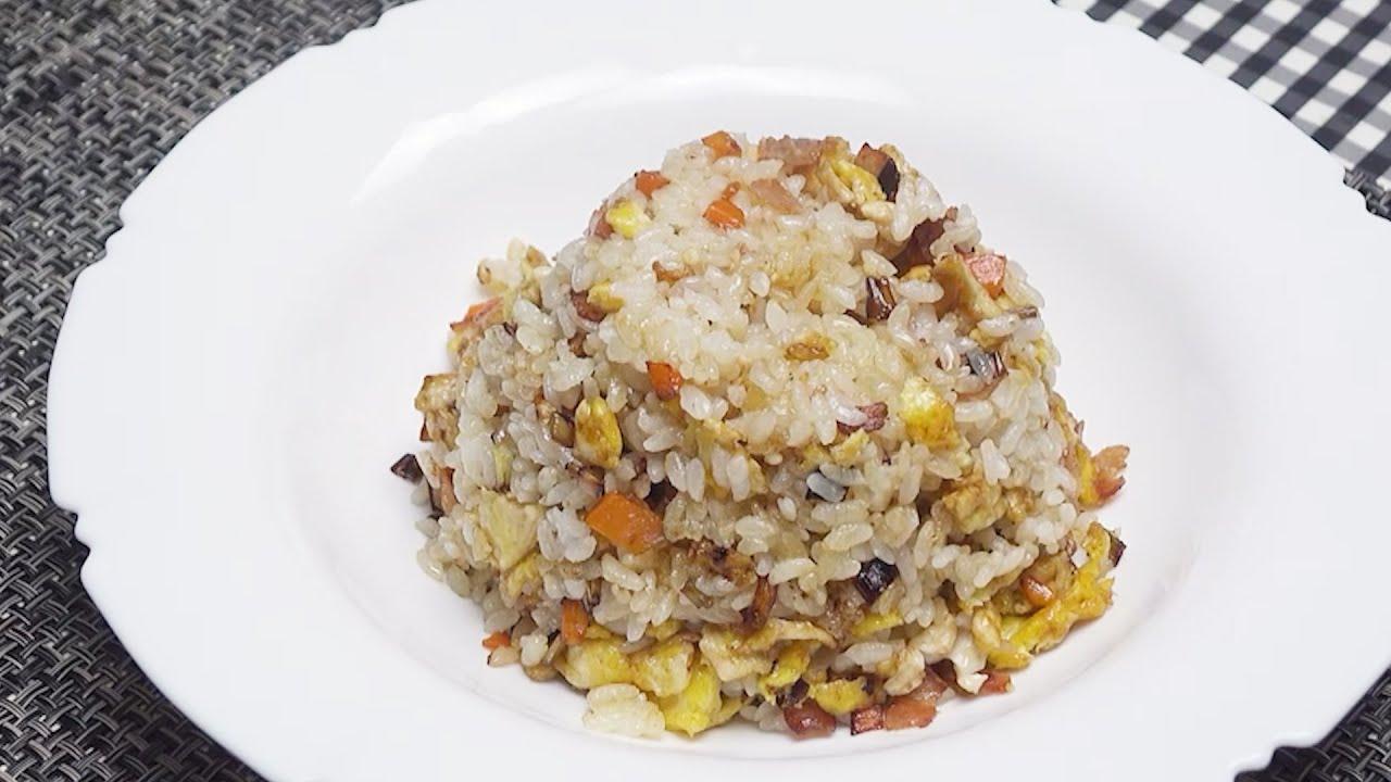 🥓베이컨 계란볶음밥🥘 . bacon egg fried rice