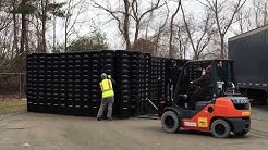 Brockton Recycle Depot receives delivery of new trash and recycling bins