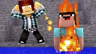 Minecraft: NOOB CAIU NA ÁGUA FALSA !!