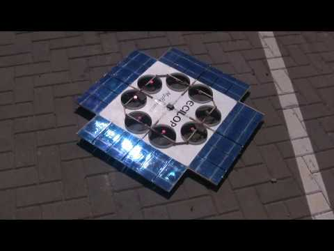 Ecilop Solar drone (Hovercraft, Ground effect vehicle). Year 2013