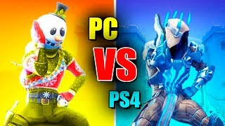 JUGANDO PS4 VS PC en FORTNITE