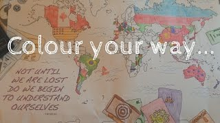 Colouring World Map - Grassroots Nomad