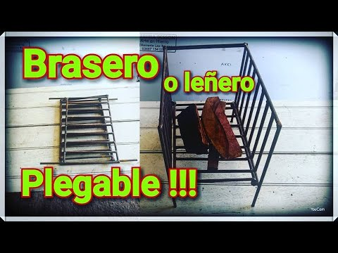 diy como hacer un brasero o le ero plegable youtube. Black Bedroom Furniture Sets. Home Design Ideas